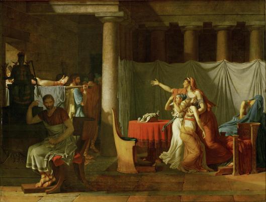 David, J.-L. 1789 Les Licteurs rapportant a Brutus les corps de ses fils