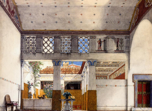 Alma Tadema 1907 'Interior of Caius Martius' House'