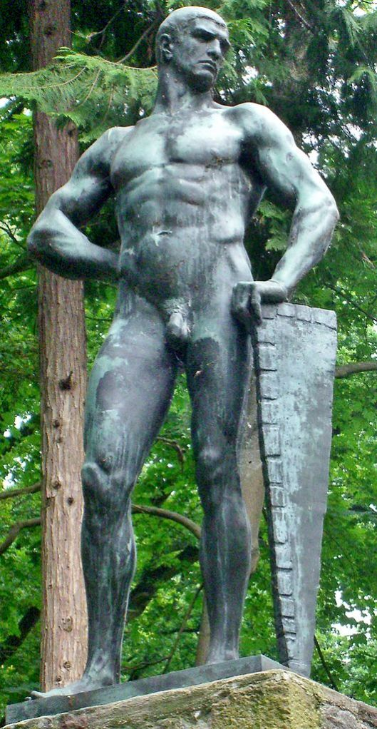 Wilhelm Wandschneider's 1903 sculpture of Coriolanus in Plau am See (Germany). Photograph courtesy of Ruchhöft-Plau from wikimedia commons